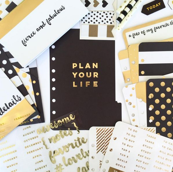 One of three lines in the Planner Love collection - this one is the GOLD line