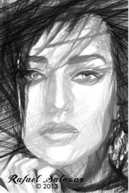Woman Sketch in Black and White