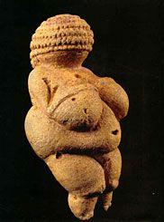 Vénus de Willendorf  110mm, calcaire oolithique vers 24 000–22 000 av JC musée Vienne