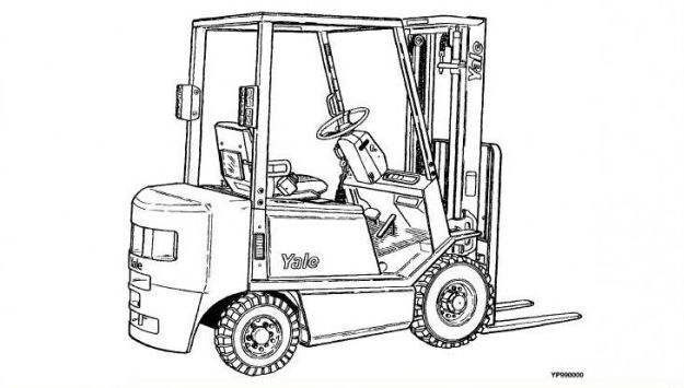 forklift coloring drawing