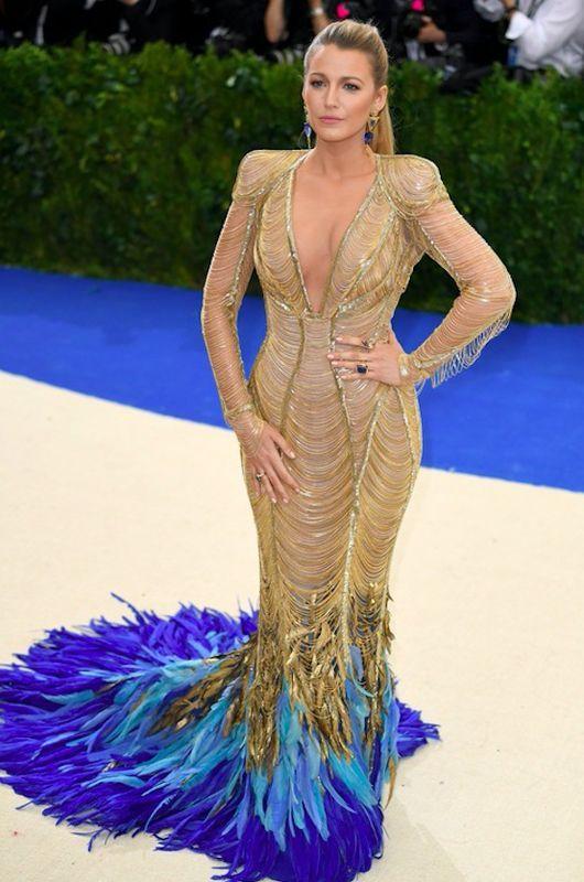 Blake Lively - Met Gala 2017, kreacja Versace
