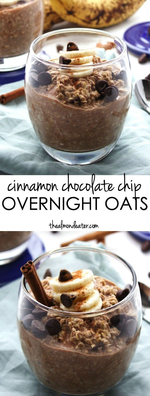 A SWEET breakfast that's also healthy! Cinnamon, chocolate and banana in one…