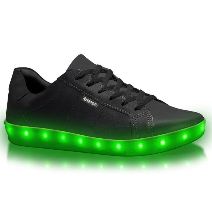 Tênis de LED Kolosh - Pré Venda C0961 - Preto - Vizzent Calçados - Compre online - Pague em 10X | Frete e Troca Grátis