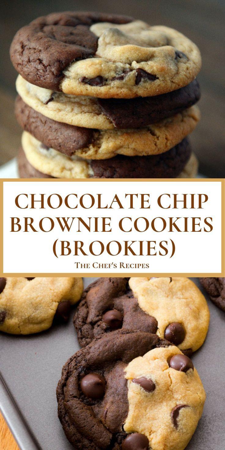 Chocolate Chip Brownie Cookies Brookies Brookies Brownie