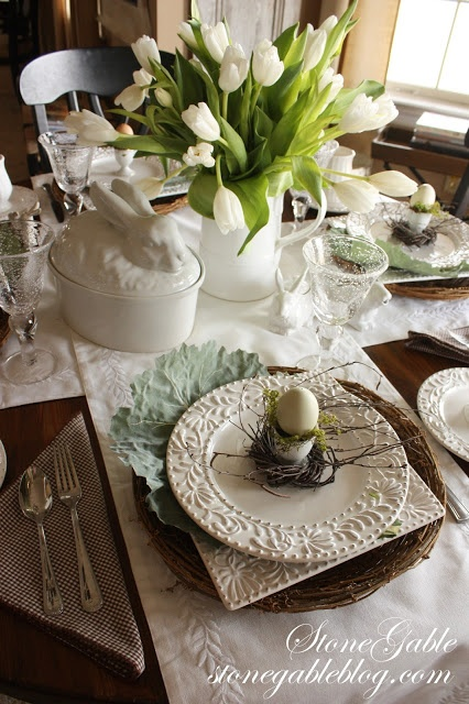 17 best ideas about table scapes on pinterest christmas for Easter decorating ideas table setting