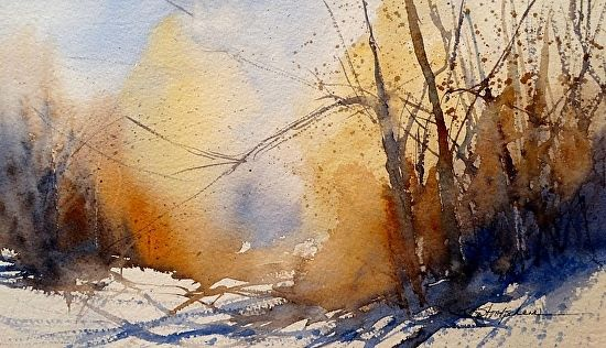 Sunlit Tangles by Sandy Strohschein Watercolor ~ 8 x 12