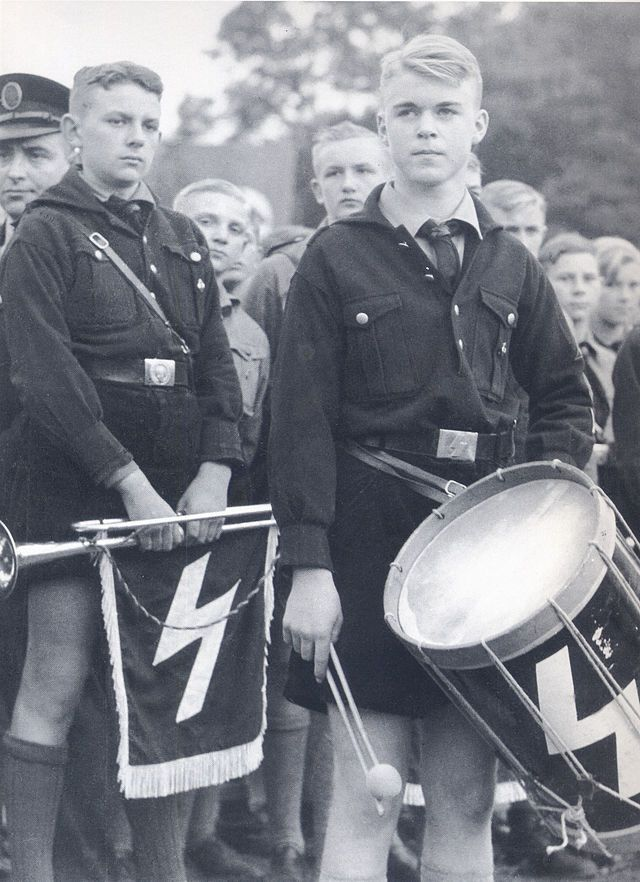 German boys of an HJ leader school in Vlotho, 1938