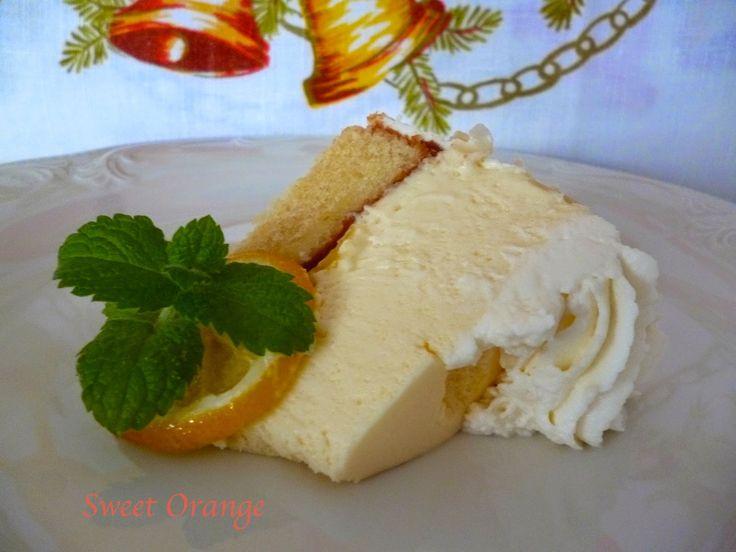 Сладкий апельсин ЛИМОН торт с Лимонный мусс