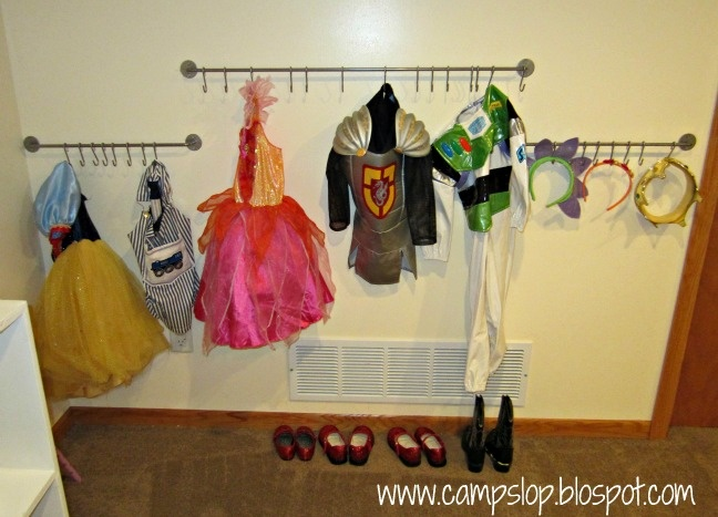 post on toy rotation... and I love this idea for dress up clothes!