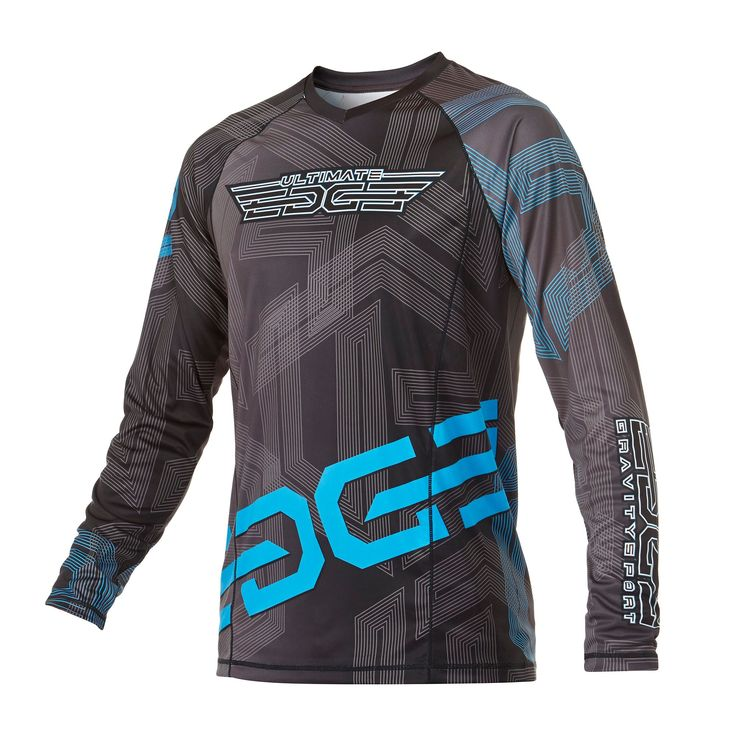 Infinite Skydiving Jersey in Graphite colorway — at Manufactory Apparel.  — Products shown: Infinite Skydiving Jersey for Ultimate Edge Skydiving  #customskydivingjerseys #getintoskydiving #skydive #jerseys