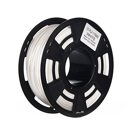 PLA 3D Printing Filament 1.75mm 2.2LBS Spool, Dimensional Accuracy of +/- 0.05mm White - http://www.real3dprinter.com/3d-printing-materials/pla-3d-printing-filament-1-75mm-2-2lbs-spool-dimensional-accuracy-of-0-05mm-white/?utm_source=PN&utm_medium=Pinterest+Printer+Accessories&utm_campaign=SNAP%2Bfrom%2BThe+3D+Printing+Website  #0.05Mm, #1.75Mm, #2.2Lbs, #Accuracy, #Dimensional, #Filament, #Printing, #Spool, #White