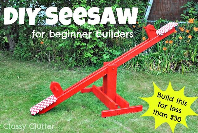 DIY Kids Seesaw - for less than 30 bucks!!!: Kids Seesaw, Projects, Summer Boredom Buster, For Kids, Diy'S, 30 Bucks, Homemade Toys, Diy Kids, Classy Clutter