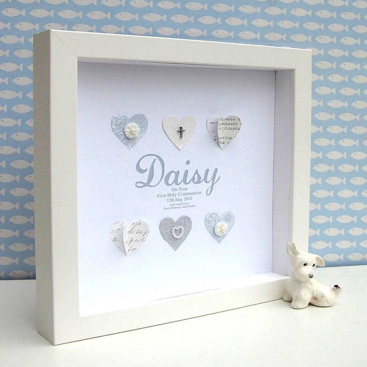 Celebrate A First Holy Communion Day with this contemporary, personalised gift. £65.00