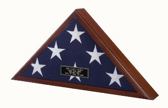 USA Made Display Flag for 5ft x 9.5 ft Flag The case can be placed on a mantle or coffee table but can also be hung attractively as the back is recessed to rest flush against the wall. Do notRead More