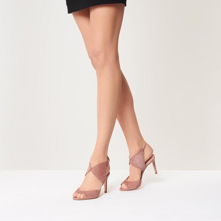 Cecilia Dark Pink Suede Heel | Heels | Shoes | Collections | L.K.Bennett, London