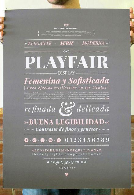 Especimen Tipográfico by Macarena García, via Behance