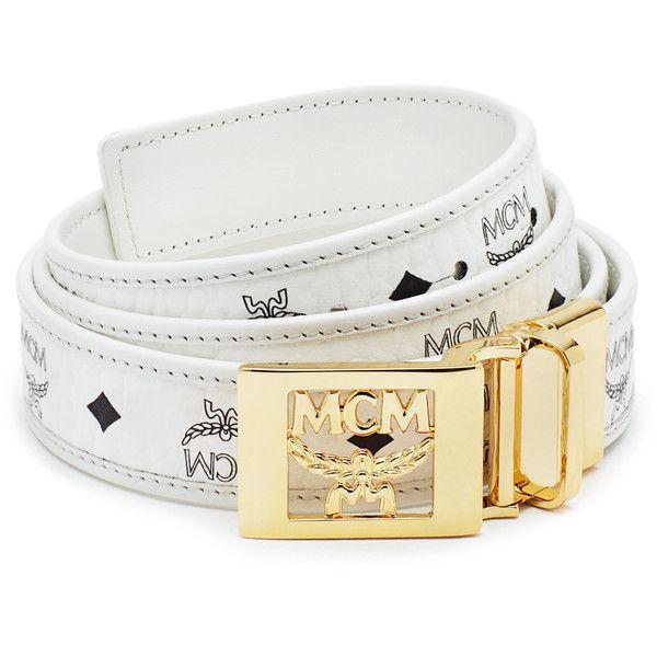 MCM Heritage Reversible Belt ($310) ❤ liked on Polyvore featuring accessories, belts, buckle belt, mcm, reversible belt and mcm belt