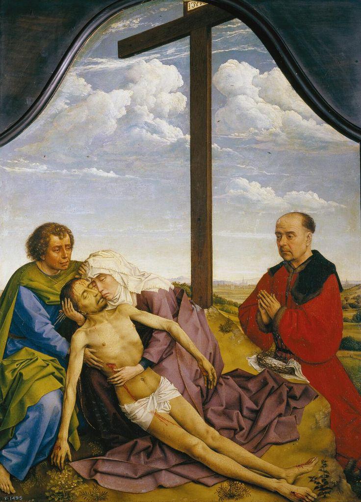 La Piedad Hacia 1450; Roger van der Weyden; óleo sobre tabla; 46,8 x 34,5 cm Museo del Prado  www.museodelprado.es/coleccion/galeria-on-line/galeria-on-line/obra/la-piedad-3/