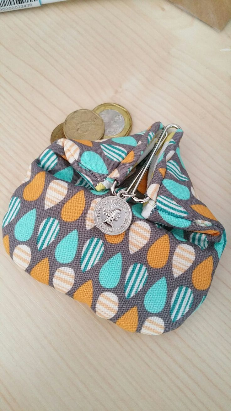 Sliding Bars Kisslock Purse for coins or small things