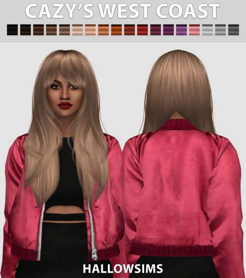 """hallowsims: """" Cazy's West Coast - Comes in 18 colours - Smooth bone assignment. - Hat compatible. - All LOD's. - Little transparency issues. - Custom Ambient Occlusion (Shadow Map) - HD mod..."""