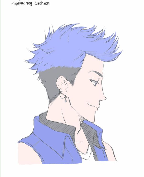 cool looking anime guy tht reminds me of Mordecai from Regular Show.