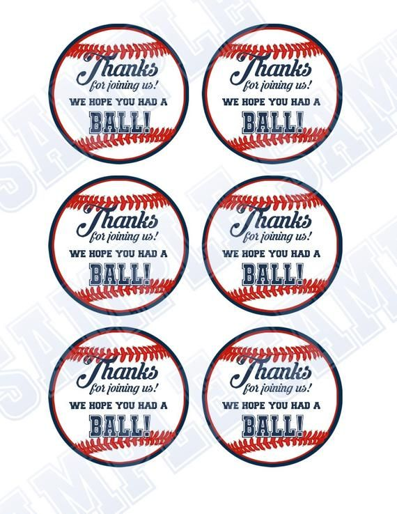 Pins Daddy Baseball Party Thank You Tags By Picture To Pin On Pinterest Baseball Baby Shower Baseball Party Favors Baseball Baby