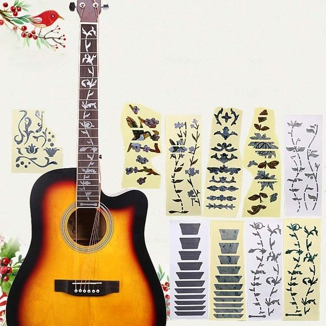 High Quality Acoustic Electric Guitar Stickers Bass Inlay Decal Ultra Thin Fretboard Sticker Instrument Guitar Guitar Stickers Acoustic Electric Guitar Guitar