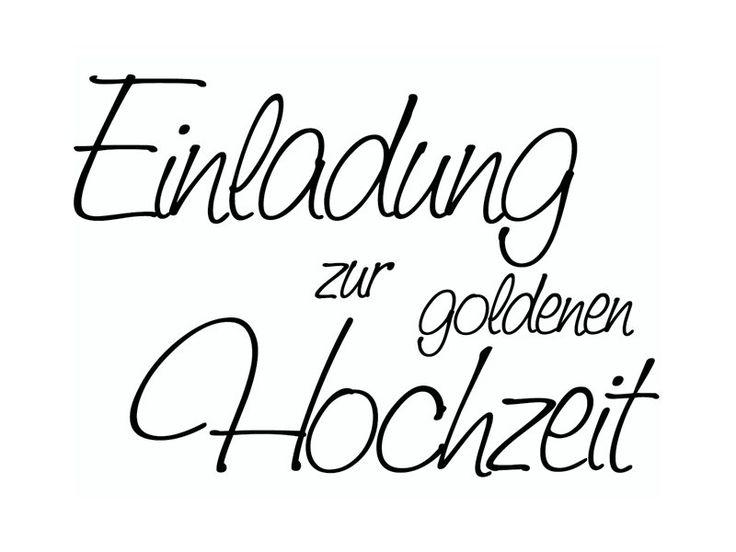 Stempel   Einladung Zur Goldenen Hochzeit