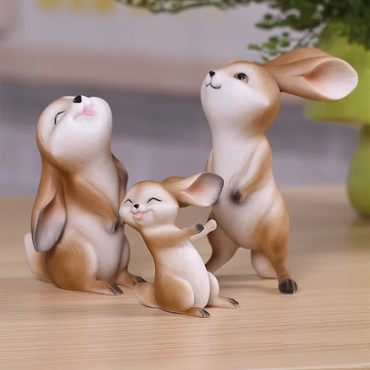 R sine artisanat de lapins lapin mignon animaux ornements for Decoration jardin lapin