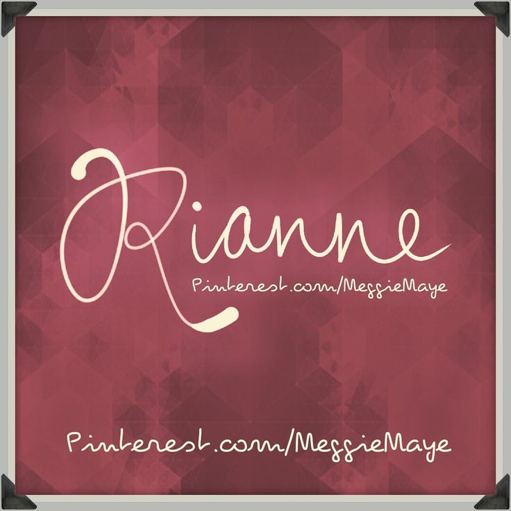 "Getting caught up on some requests. Baby girl's name Rianne. Either from Welsh Rhiannon or from Irish Rían. Rhiannon is from the old Celtic name Rigantona meaning ""great queen"". In Welsh mythology Rhiannon was the goddess of fertility and the moon. Male name Rían (Ryan) means ""king,"" or ""little king."" So either way, a feminine Rianne means ""queen"" or at least ""royalty."""