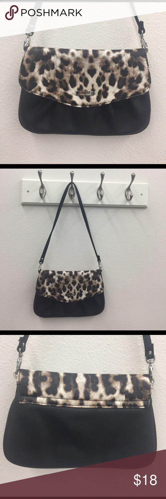 "Grace Adele Clutch Grace Adele ""Jane""-Leopard Clutch. Versatile envelope w/ subtle ruching. It has a detachable strap. Used a couple times. Perfect for going out. Bundle this with the Blue clutch & now you have choices:) Grace Adele Bags Clutches & Wristlets"