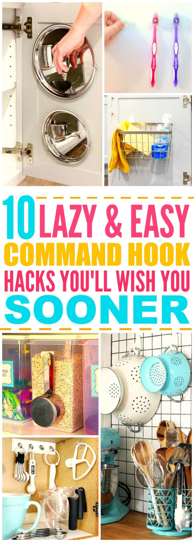 These 10 life changing command hook hacks are THE BEST! I'm so happy I found…