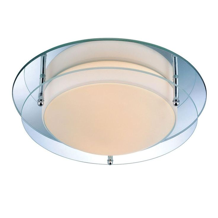 Illumine Designer Collection 2 Light Steel Semi Flush Mount
