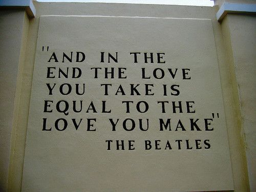 in the end..