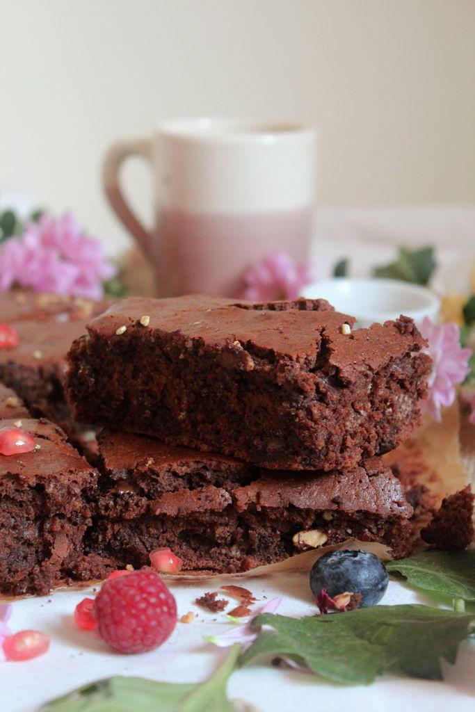 vegan white chocolate brownies