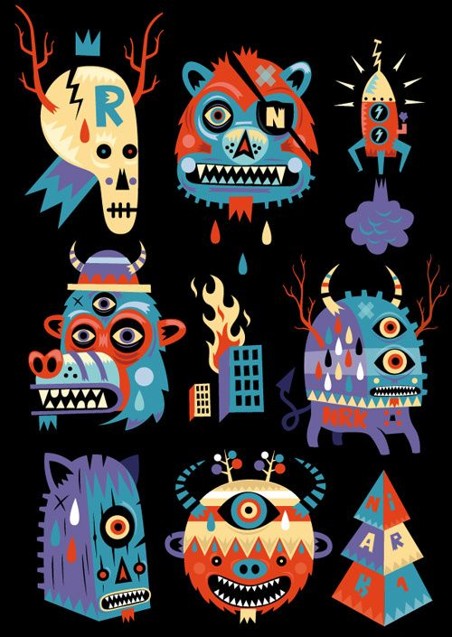 Illustration #9 by Seb NIARK1 FERAUT, via Behance ---- He's a great vector artist, check out the rest of his work!