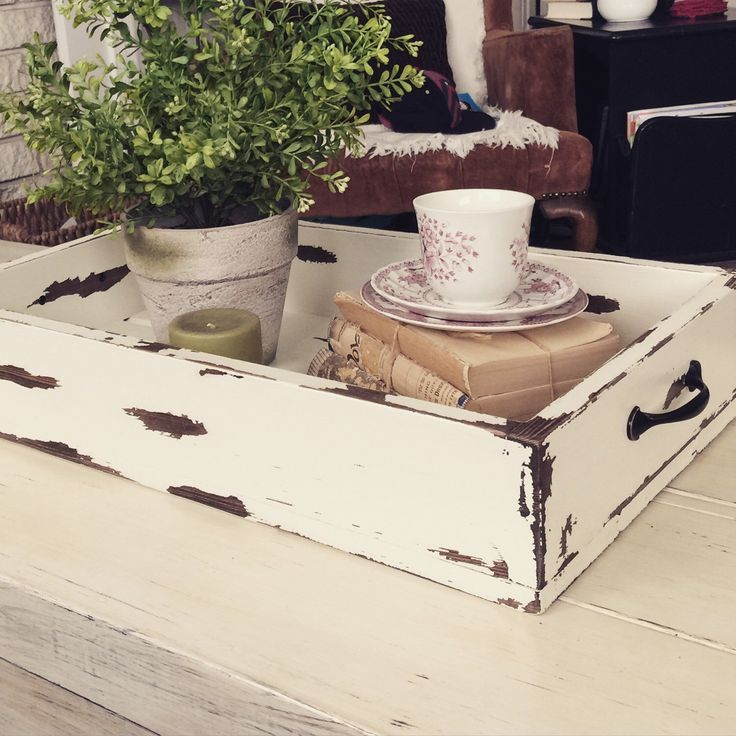 Farmhouse Wooden Tray by HoneyDoWoodShop on Etsy https://www.etsy.com/listing/230660669/farmhouse-wooden-tray