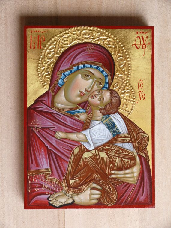 Byzantine, Greek icon, Virgin Mary of Don, Mother of Tenderness, hand painted orthodox icon, Mother of God, Our Lady, Blessed Virgin Mary