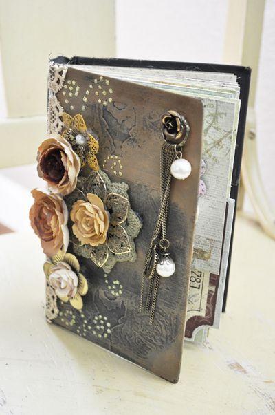 flowered art journal