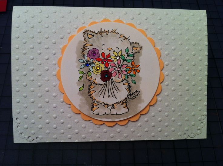 """""""Young Lady"""" - A collection that covers 12 months of stationary needs.  Neutral use Embossed paper; diecut and stamped; Copic markers used to color the stamp; small colored rhinestones,"""