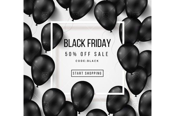 Black friday balloons. Certificate Templates. $6.00