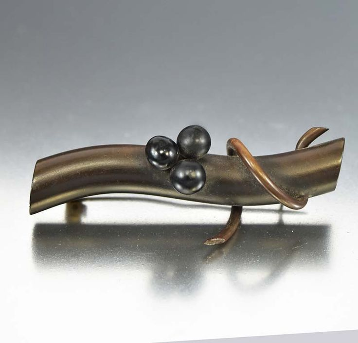 Antique Gutta Percha Brooch Victorian Mourning Jewelry