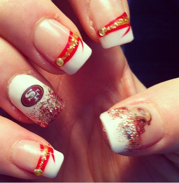 Day 30: 49ers Nail Art - - NAILS Magazine