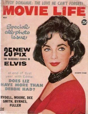 Movie Life 1960 Elizabeth Taylor Michael Landon Gardner McKay Stephen Boyd Elvis