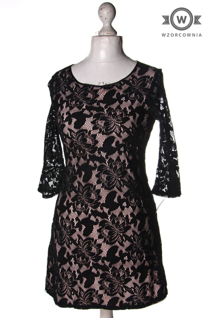 >> #Sukienka z warstwą koronki #Wallis #Wzorcownia online #woman #dress