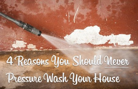 The truth is you should never pressure wash your house, but everyone does it. Learn why you shouldn't right here!