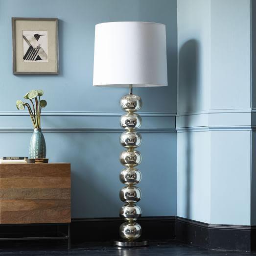 Abacus Floor Lamp - Mercury