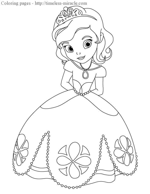 Princess Sofia Christmas Coloring Pages Princess Coloring Pages Princess Drawings Cartoon Drawings Disney
