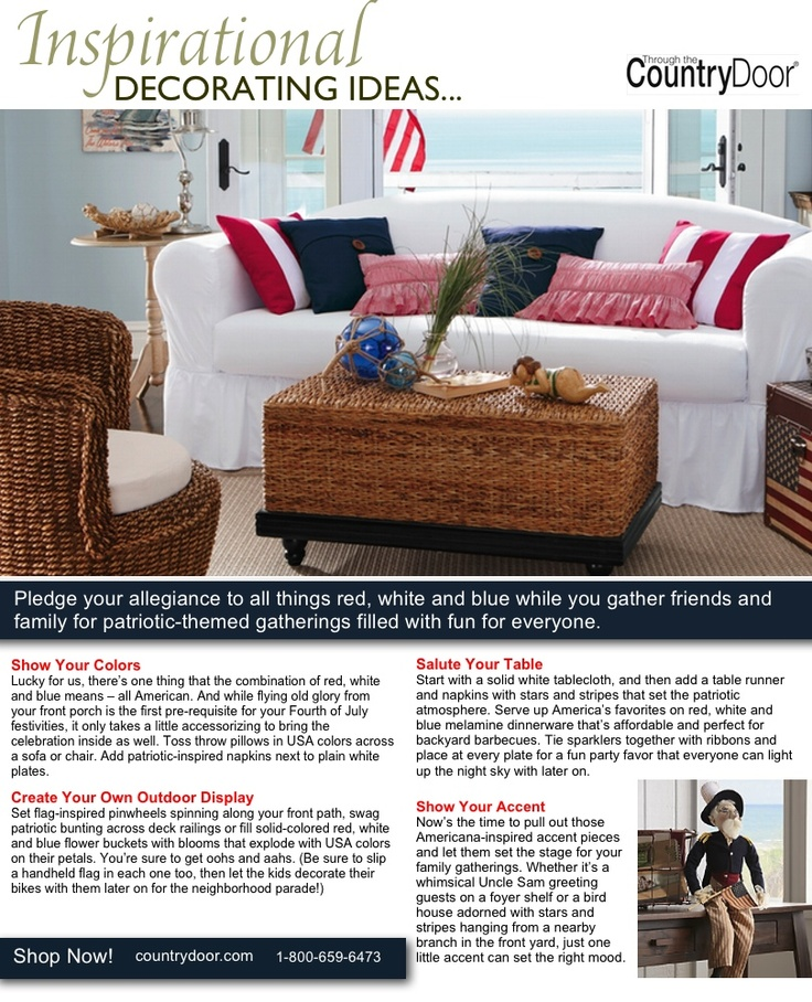 167 best Red White and Blue Decorating images on Pinterest Red