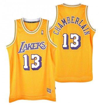 Los Angeles Lakers - Maillot Harwood Wilt Chamberlain jaune A46430